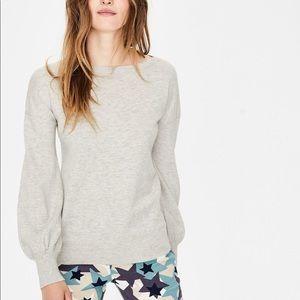 Boden | Gray Muriel Scoop Neck Sweater XS